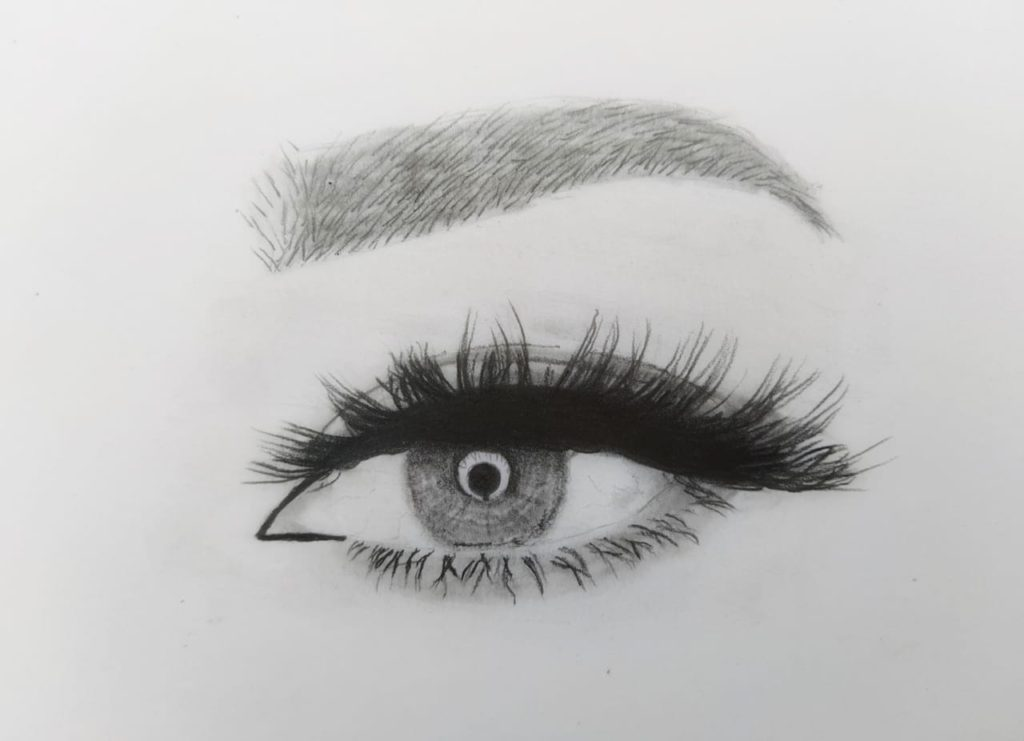 How to Draw Eyebrows : 7 Steps Tutorial | The Ravi arts